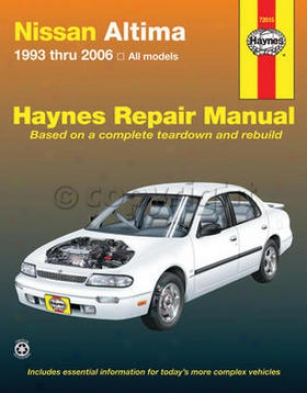 1993-2006 Nissan AltimaR epair Maunal Haynes Nissan Retrieve Manual 72015 93 94 95 96 97 98 99 00 01 02 03 04 05 06