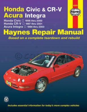 1994-2000 Acura Integra Mend Manual Haynes Acura Repair Manual 42025 94 95 96 97 98 99 00