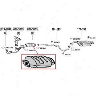 1995-2000 Chrysler Swbring Catalytic Converter Bosal Chrysler Catalytic Converter 079-3035 95 96 97 98 99 00