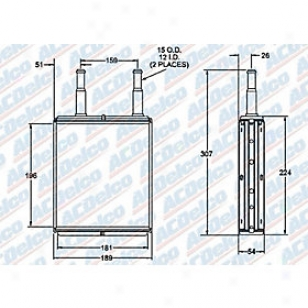 1996-2004 Ford Taurus Heater Core Ac Delco Ford Heater Core 15-62559 96 97 98 99 00 01 02 03 04