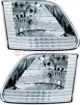1997-1998 oFrd F-150 Heeadlight Ipcw Ford Headlight Cwc-ce15 97 98
