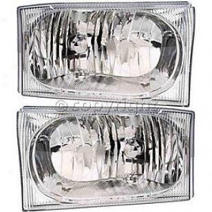1999-2005 Ford F-450 Super Duty Headlight Anzo Ford Headlight 111023 99 00 01 02 03 04 05