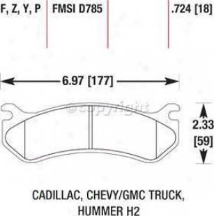 2002-2006 Cadillac Escalade Brake Pad Set Hawk Caxillac Brake Pa Set Hb323f.724 02 03 04 05 06