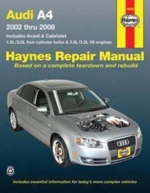 2002-2008 Audi A4 Reapir Manual Haynes Audi Repair Manual 15030 02 03 04 05 06 07 08