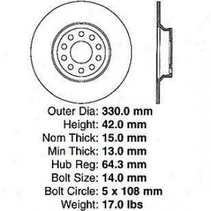 2003-2005 Jaguar S-type Brake Disc Centric Jaguar Brwke Disc 120.20019 03 04 05