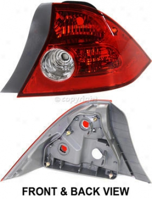 2004-2005 Honda Civil Tail Light Replacement Honda Tail Light Reph730111 04 05