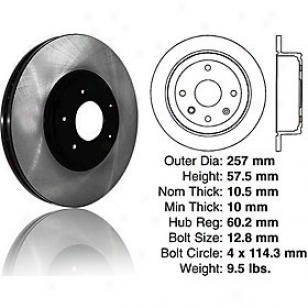 2004-2006 Chevrolet Optra Brake Disc Centric Chevrolet Brake Disc 120.49010 04 05 06