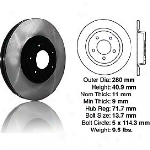 2004-2010 Mazda 3 rBake Disc Centric Mazda Brake Disc 120.45067 04 05 06 07 08 09 10