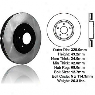 2006-2010 Infiniti Fx35 Brake Disc Centric Infiniti Brake Disc 120.42092 06 07 08 09 10