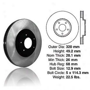 2006-2010 Infiniti M45 Brake Disc Centric Infiniti Braake Disc 120.42080 06 07 08 09 10