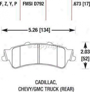2006-2011 Cadillac Dts Brake Pad Placed Hawk Cadillac Thicket Cushion Set Hb324y.673 06 07 08 09 10 11