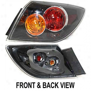 2007-2009 Mazda 3 Tail Light Replacement Mazda Tail Light M730147 07 08 09
