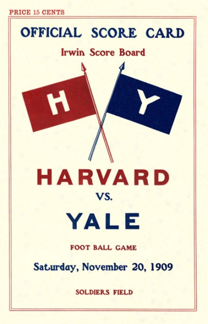 1909 Harvard Crimson Vs. Yale Bulldogs 36 X 48 Canvas Historic Football Print