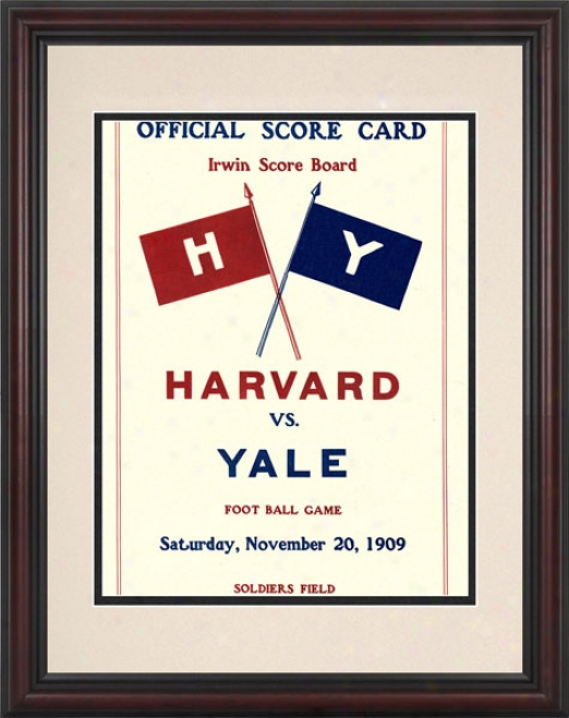 1909 Harvard Crimson Vs. Yale Bulldogs 8.5 X 11 Framed Historic Football Print