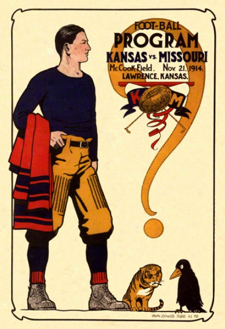 1914 Kansas Vs. Missouri 36 X 48 Canvas Historic Football Newspaper