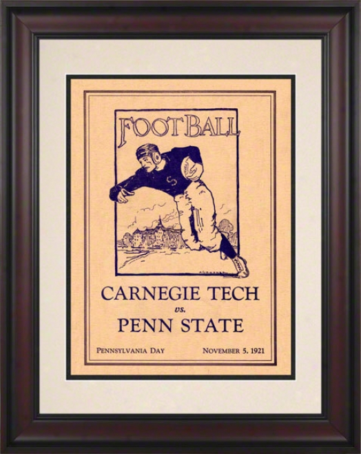 1921 Penn State Nittany Lions Vs Carnehie Tech 10 1/2 X 14 FramedH istoric Football Poster
