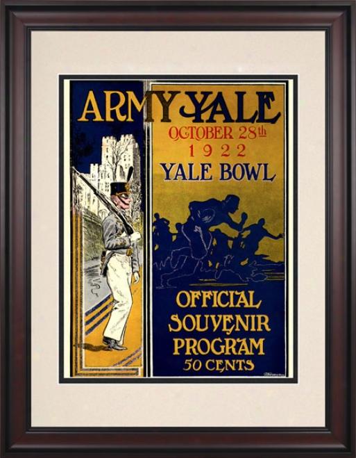 1922 Yale Bulldogs Vs. Armh Black Knights 10.5x14 Framed Historic Football Print