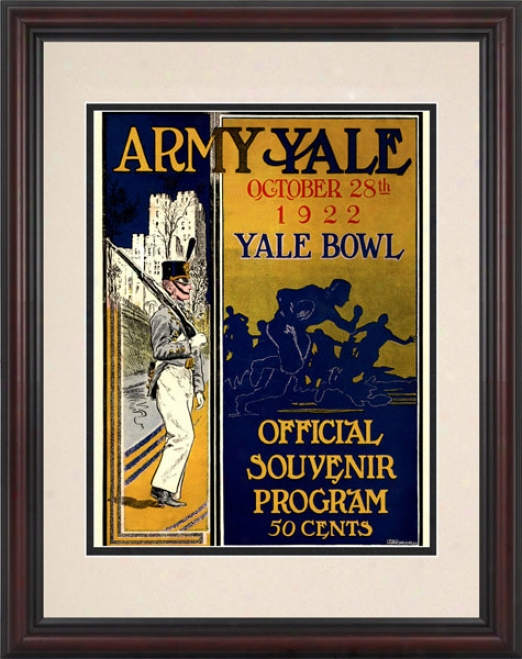 1922 Yale Bulldogs Vs. Army Negro Knights 8.5 X 11 Framed Historic Football Stamp