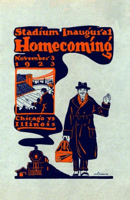 1923 Illinois Vs. Chicago 22 X 30 Canvas Historic Football Print