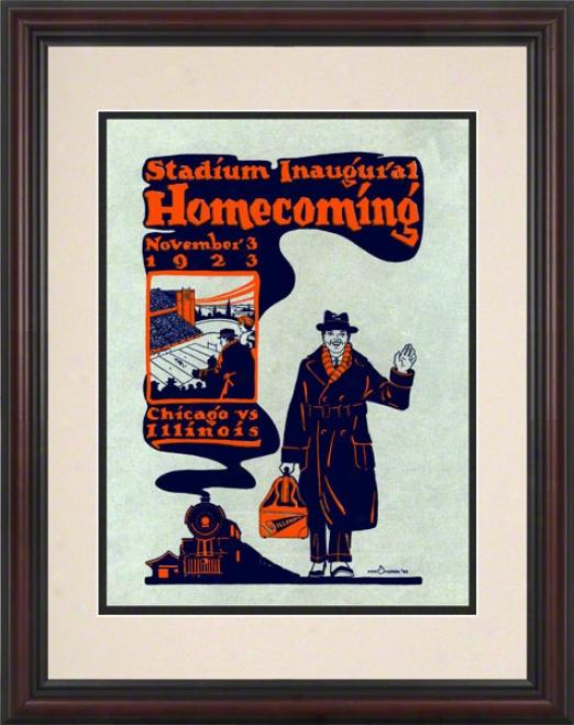 1923 Illinois Vs. Chicato 8.5 X 11 Framed Historic Football Print