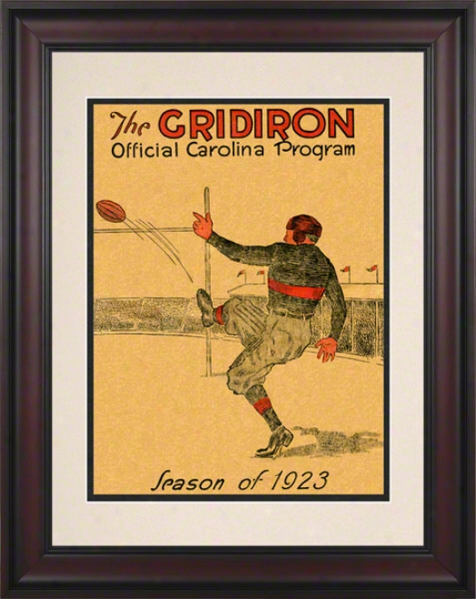 1923 South Craolina Vs. Clemson 10.5x14 Framed Historic Football Print