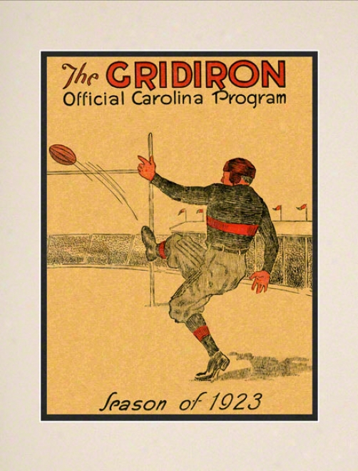 1923 South Carolina Vs. Clemson 10.5x14 Matted Historic Football Print