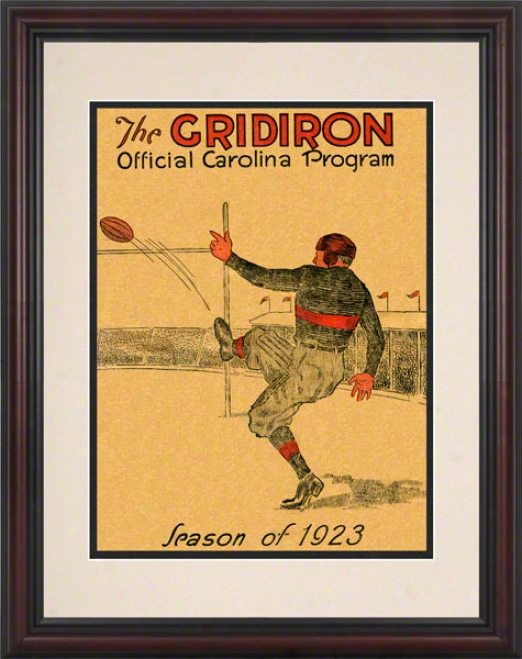 1923 South Carolina Vs. Clemson 8.5 X 11 Framed Historic Football Print