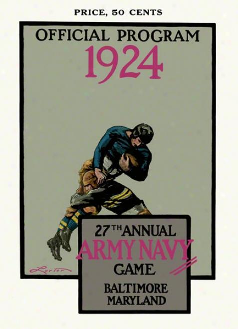 1924 Army Vs. Navy 22 X 30 Canvas Historic Football Print