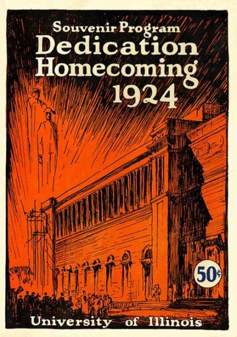 1924 Iplinois Vs. Michigan 22 X 30 Canvas Historic Football Print
