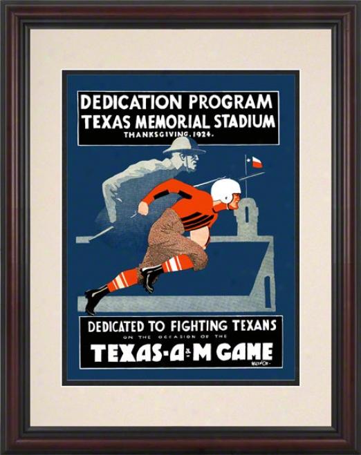 1924 Texas Vs. Texas A&m 8.5 X 11 Framed Historic Football Print