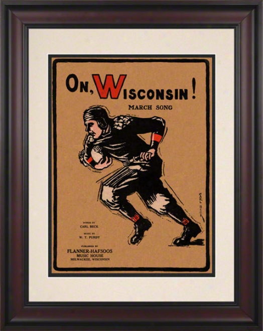 1925 On Wisconsin! 10.5x14 Framed Historic Football Print