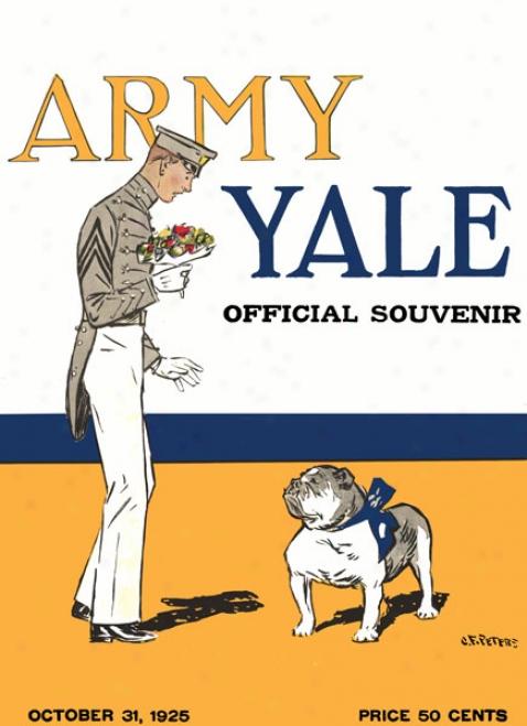 1925 Yale Bulldogs Vs. Army Black Knights 36 X 48 Canvas Histori cFootball Print