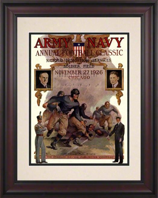 1926 Army Vs. Navy 10.5x14 Framed Historic Football Print