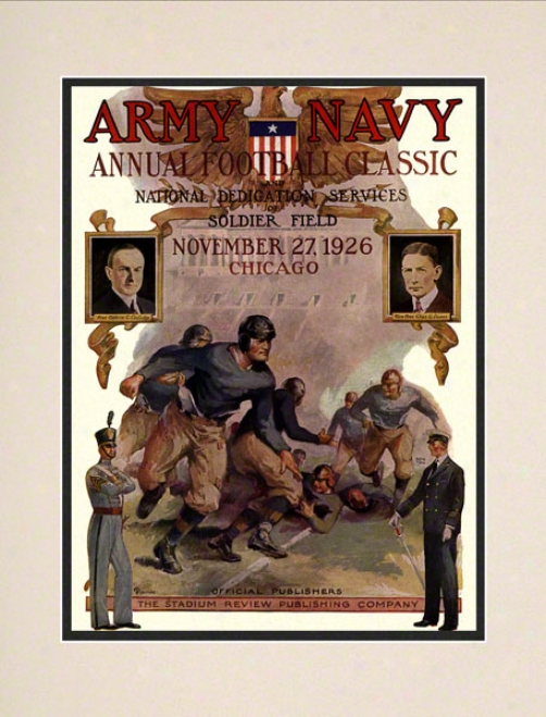 1926 Army Vs. Navy 10.5x14 Matted Historic Football Print
