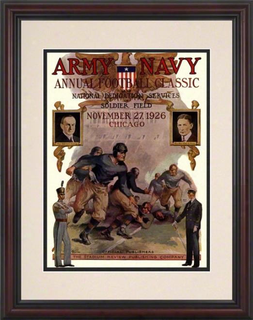 1926 Army Vs. Navy 8.5 X 11 Framed Historic Football Print