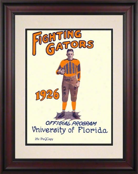 1926 Florida Program Print 10.5 X 14 Framed Historic Football Print