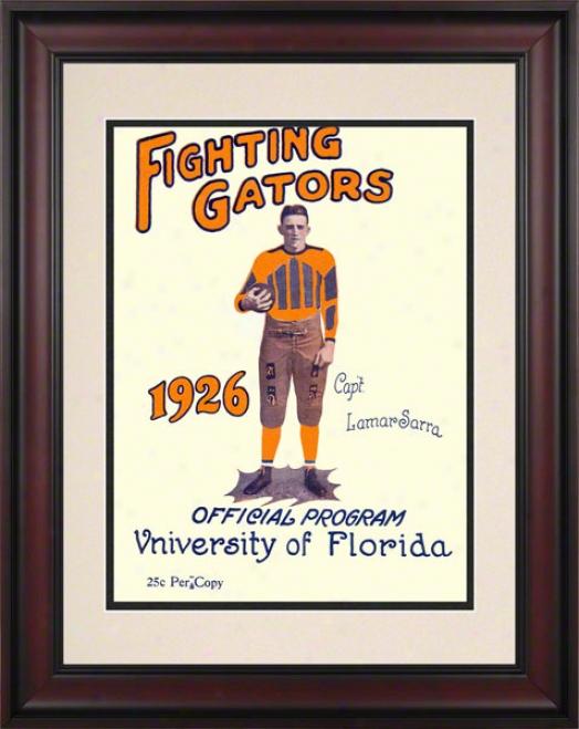 1926 Florida Vs. Washington & Lee 10.5x14 Framed Historic Football Print