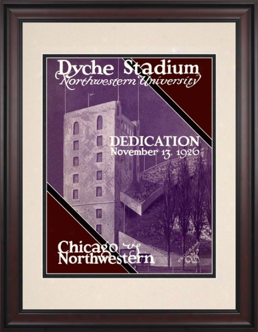 1926 Northwestern Wildcatts Vs. Unviersity Of Chivago 10.5x14 Framed Historic Football Print