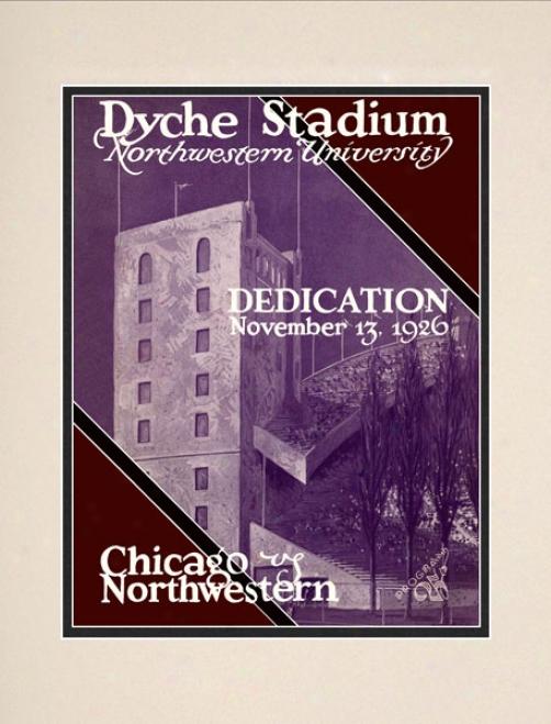 1926 Northwestern Wildcats Vs. University Of Chicago 10.5x14 Matted Historic Football Print