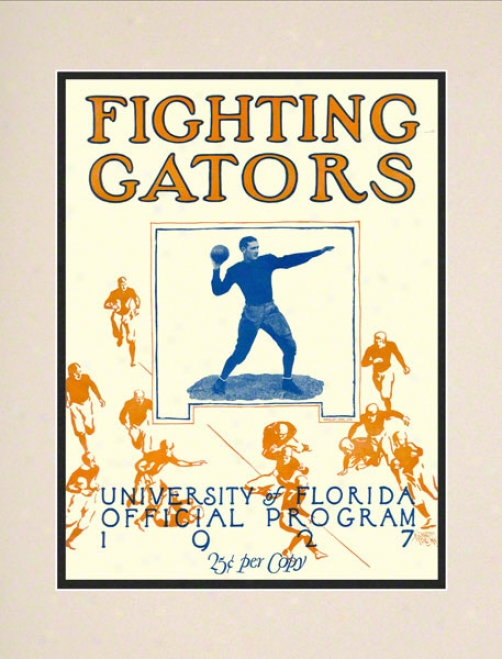 1927 Florida Team Cover 10.5x14 Matted Historic Football Print