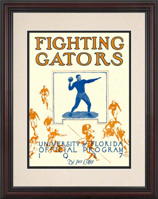 1927 Florida Team Cover 8.5 X 11 Framed Historic Football Print