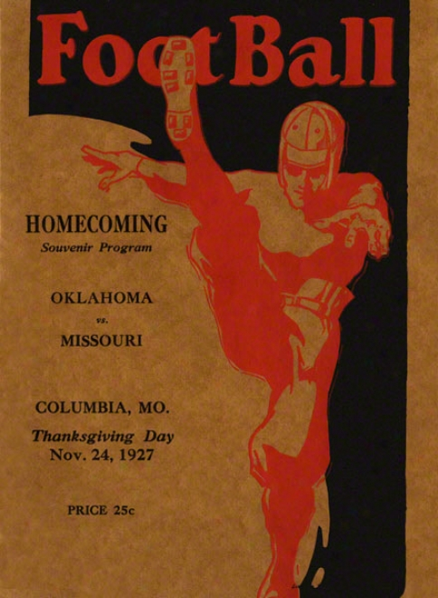 1927 Missouri Vs Oklahoma 22 X 30 Canvas Historic Football Impress