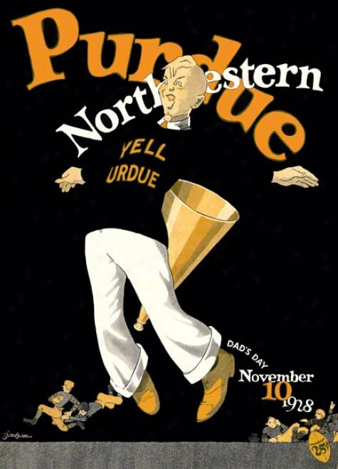 1928 Northwestern Vs. Purd8e 22 X 30 Canvas Historic Football Print