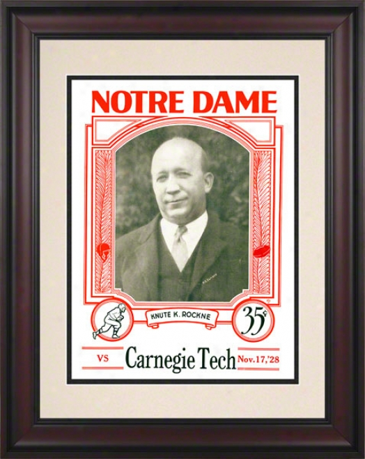 1928 Notre Dame Fighting Irish Vs Carnegie Tech 10 1/2 X 14 Framed Historic Football Poster