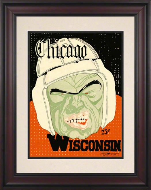 1928 Wisconsin Vs. Chicago 10.5x14 Framed Historic Football Print
