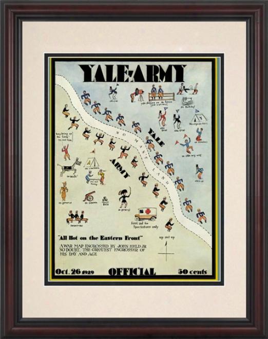 1929 Yale Bulldogs Vs. Army Black Knights 8.5 X 11 Frame Historic Football Print