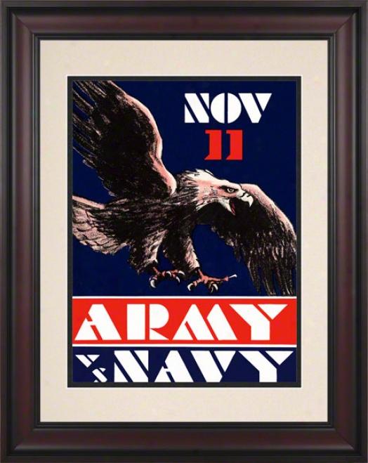 1930 Army Vs. Navy 10.5x14 Framed Historic Football Print