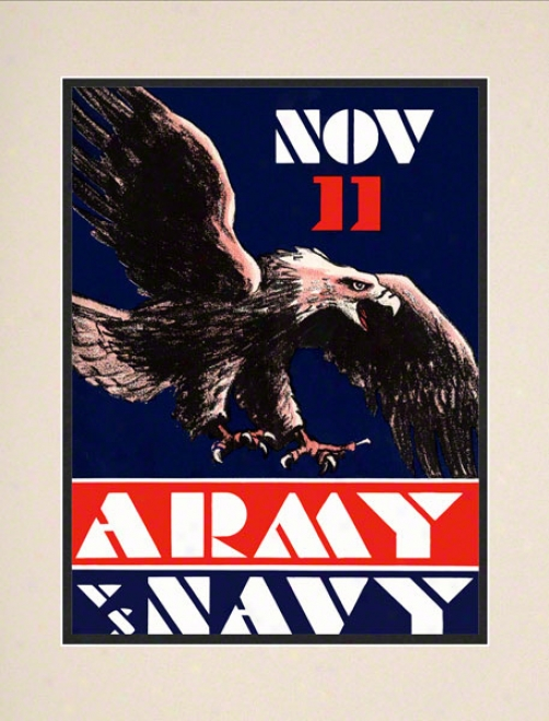 1930 Army Vs. Navy 10.5x14 Matted Historic Footbaol Print