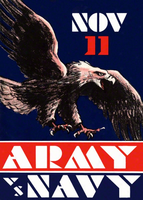 1930 Army Vs. Navy 36 X 48 Canvas Historic Football Print