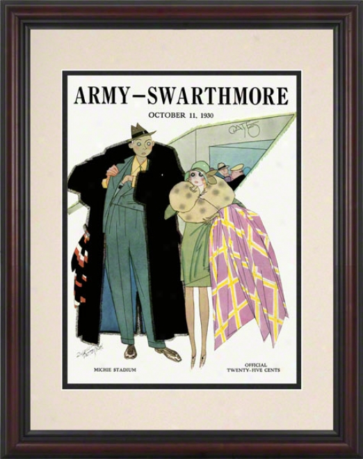 1930 Army Vs. Swarthmore 8.5 X 11 Framed Historic Football Print
